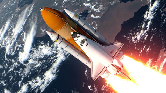 space shuttle launch - rakete stock-videos und b-roll-filmmaterial