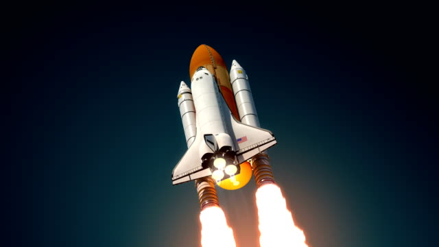 Space Shuttle Take Off video