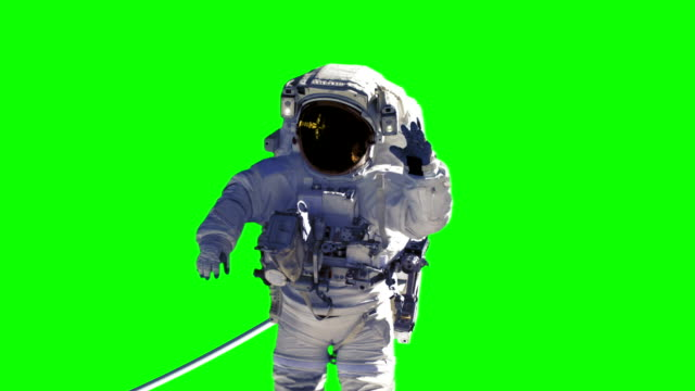 Space Station And Astronaut On Green Screen. You Can Find Complete Scene In My Portfolio. video