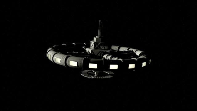 宇宙ステーションのアニメーション - ソーサー点の映像素材/bロール