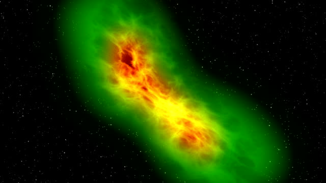 Space travel, nebula approaching - flying and close-up exploration video