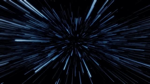 vídeos y material grabado en eventos de stock de envoltura también conocido como hyperspace espacio. sci-fi vfx animación. - velocidad