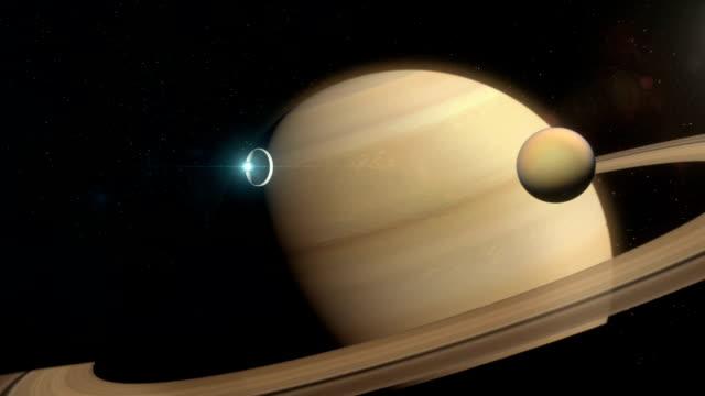 Spaceship Approaching Saturn video
