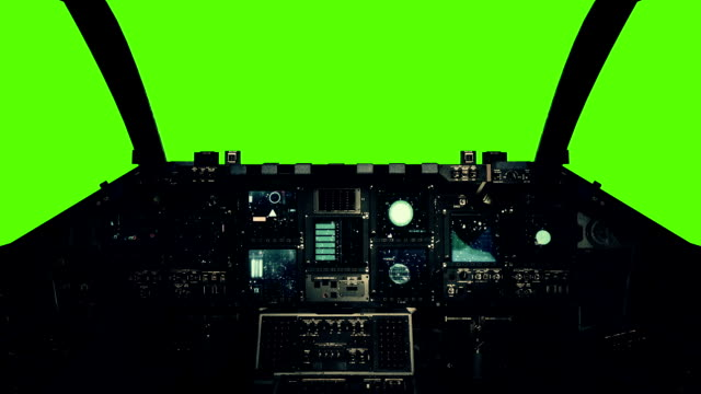 Spaceship Cockpit in a Pilot Point of view on a Green Screen Background Spaceship Cockpit in a Pilot Point of view on a Green Screen Background cockpit stock videos & royalty-free footage