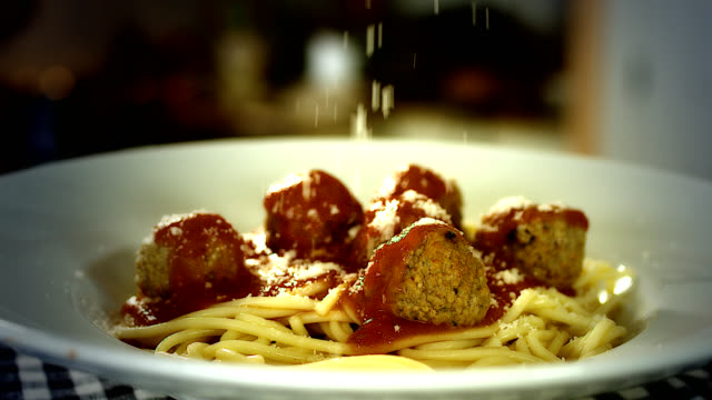 spaghetti and meatballs - italian food stock videos & royalty-free footage