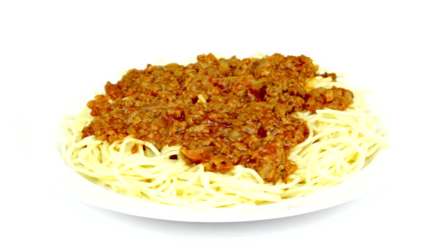 vidéos et rushes de spaghetti à la bolognaise - spaghetti bolognaise