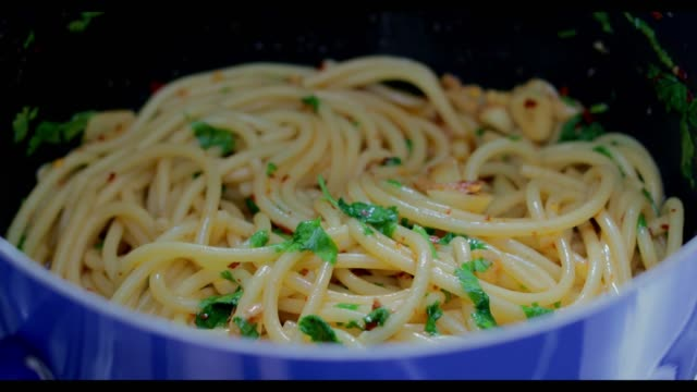 Spaghetti Pasta ready for lunch video