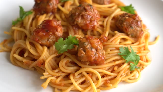 spaghetti with meat balls spaghetti with meat balls spaghetti stock videos & royalty-free footage