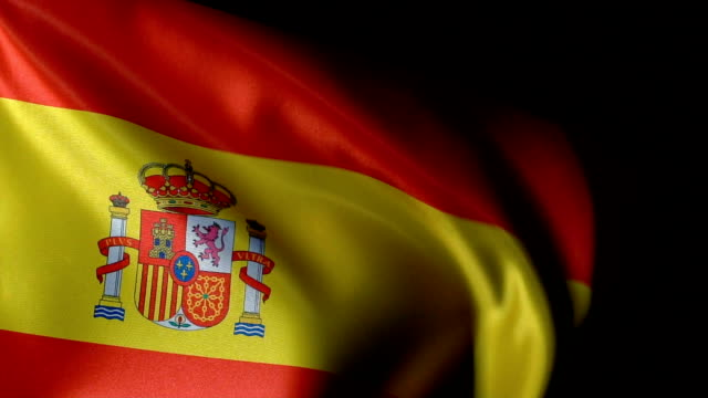 Spain Flag Flapping