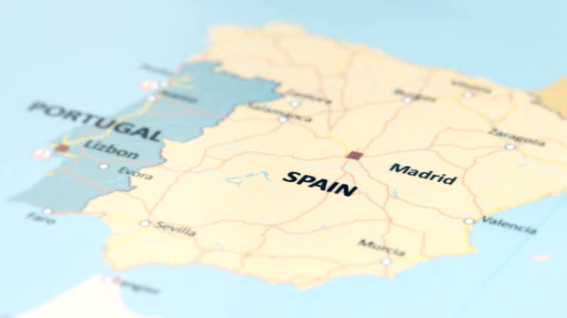 EUROPE Spain on World Map
