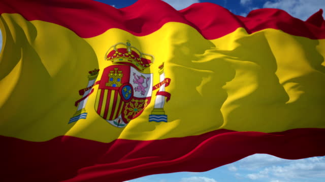 spanische flagge - spanien stock-videos und b-roll-filmmaterial