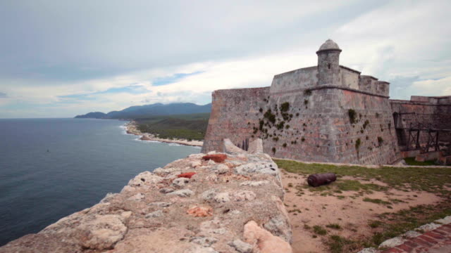 Spanish Fort in Cuba Shot in 4K using the Sony A7SII and a Canon L lens. fort stock videos & royalty-free footage