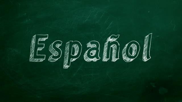 Conceito de aprendizagem de espanhol - vídeo