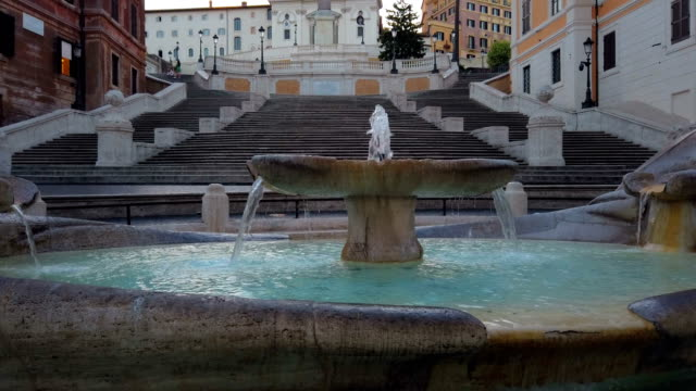 Spanish Steps in the morning, Rome video