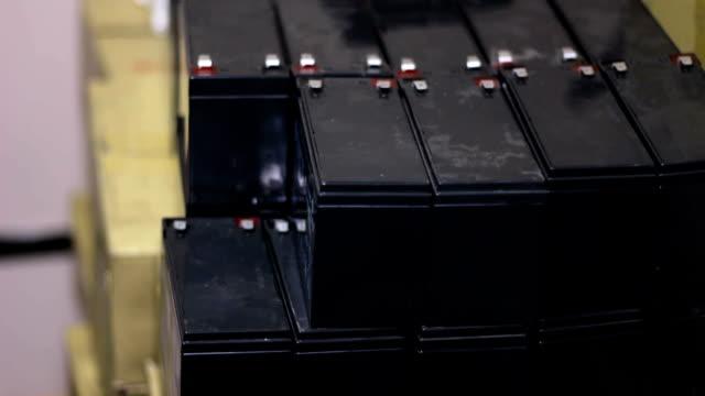 Spare accumulators Uninterruptible Power Supplies Uninterruptible power supply rotates on white background power supply stock videos & royalty-free footage