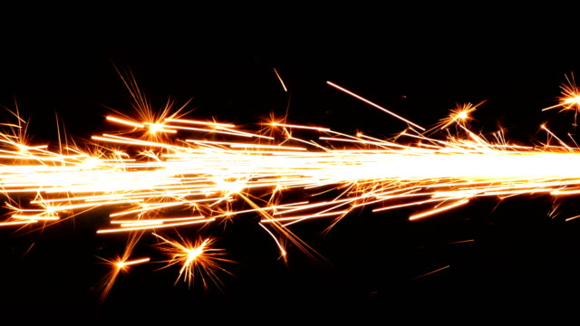 Spark Firework New Year Celebration Concept on Black Background Spark Firework New Year Celebration Concept on Black Background grinder industrial equipment stock videos & royalty-free footage