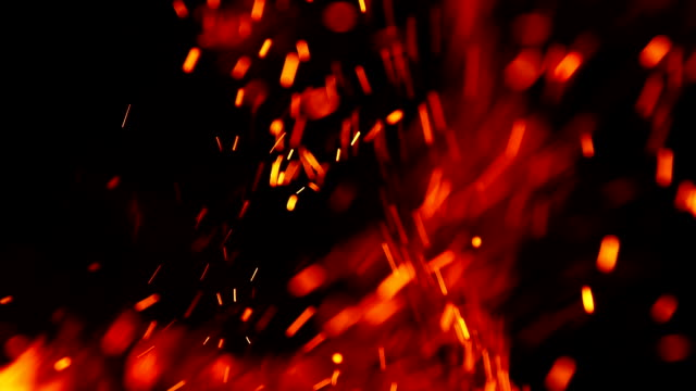 spark of fire background - vicino video stock e b–roll