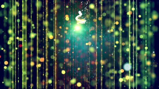 クリスマス ツリーの背景色を輝き - 十二月点の映像素材/bロール