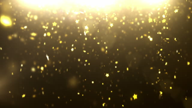 Sparkle Dust Background Video - Gold Stars (Loopable between 6&12sec) video