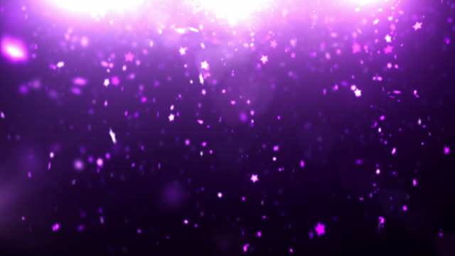 Sparkle Dust Background Video - Purple Stars (Loopable between 6&12sec) video