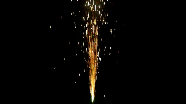 Sparkle Fountain End Slow Motion Sparkle fountain isolated on a black background in slow motion firework explosive material stock videos & royalty-free footage