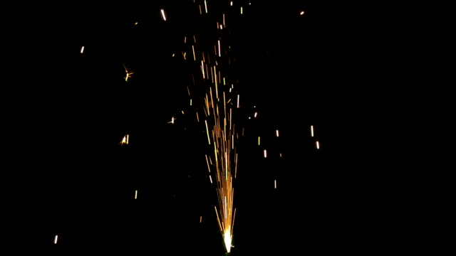 Sparkle Fountain Slow Motion Sparkle fountain isolated on a black background in slow motion firework explosive material stock videos & royalty-free footage