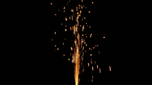 Sparkle Fountain Sparkle fountain isolated on a black background with sound firework explosive material stock videos & royalty-free footage