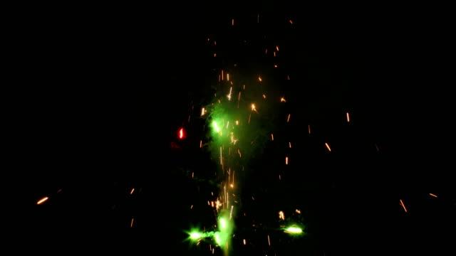 sparkler cracker firework - fountains stock videos & royalty-free footage