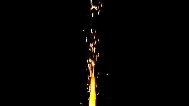 Sparkler isolated on black background Sparkler isolated on black background. firework explosive material stock videos & royalty-free footage