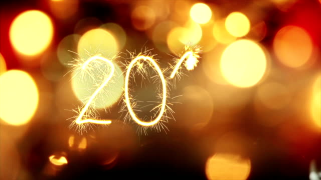 sparkler text animation new 2017 year greeting video
