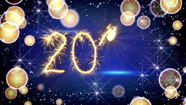 Sparkler text animation new 2018 year greeting video