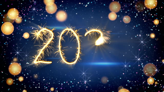 Sparkler text animation new year 2020 greeting