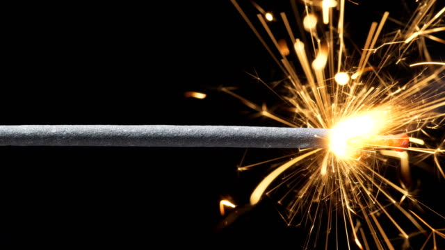 sparkler (slow motion) video