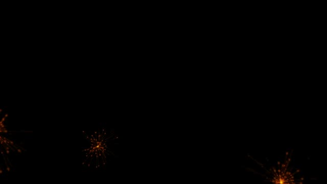 スパークラー、明るい輝く粒子、お祝いのフレーム ビデオ