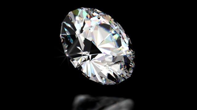 diamante luminoso - brillante video stock e b–roll