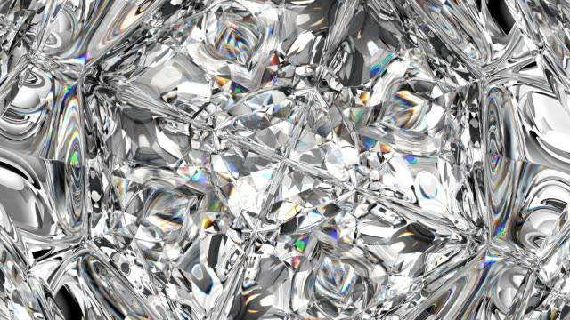 parlak taş makro sorunsuz döngü döner. kaleydoskop - elmas stok videoları ve detay görüntü çekimi