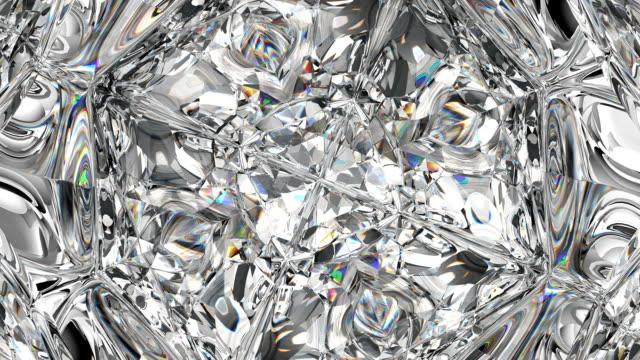 sparkling gemstone macro rotating seamless loop. kaleidoscope - узор калейдоскоп стоковые видео и кадры b-roll