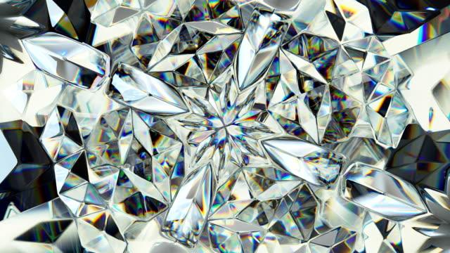 輝く宝石マクロ シームレス ループを回転します。カレイド スコープ - 宝飾品点の映像素材/bロール
