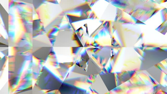 sparkling gemstone macro rotating seamless loop. kaleidoscope