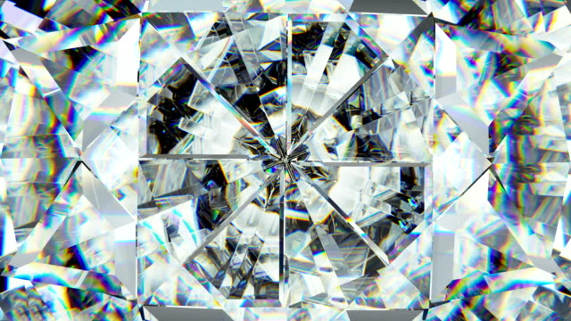 vidéos et rushes de macro de précieuses mousseux rotation boucle parfaite. kaléidoscope - joaillerie
