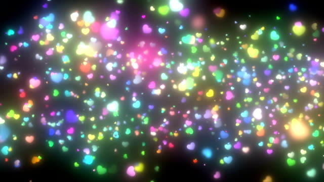 sparkling graphic particles video