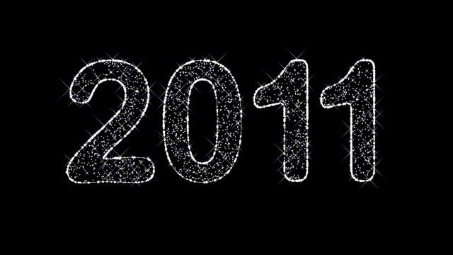 Sparkling inscription '2011' video