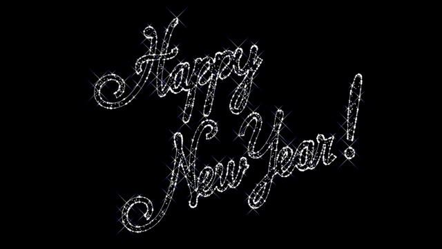Sparkling inscription 'Happy New Year' video