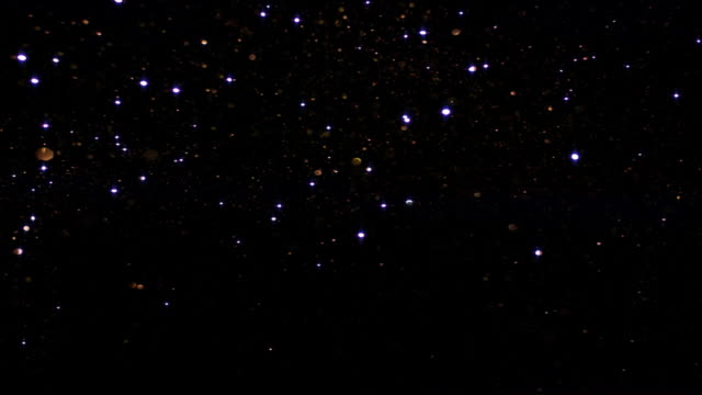 Sparkling silver starry sky video