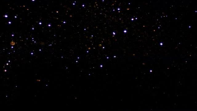 sparkling silver starry sky - işıltılı stok videoları ve detay görüntü çekimi
