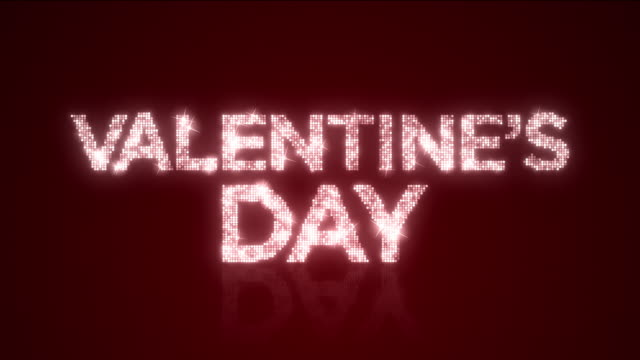 Sparkling Valentine's Day Reflective Background Loop with Matte video