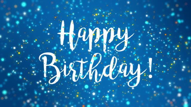 Sparkly blue happy birthday greeting card video stock video more sparkly blue happy birthday greeting card video stock video more clips of abstract 891597192 istock m4hsunfo