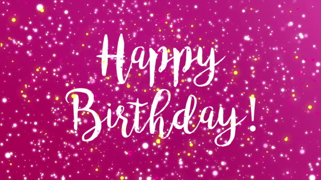 Sparkly Purple Happy Birthday Greeting Card Video Stock Video More