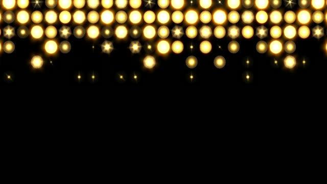 stockvideo's en b-roll-footage met spatte fase lichten achtergrond vallende patroon beweging - spotlicht elektrisch licht