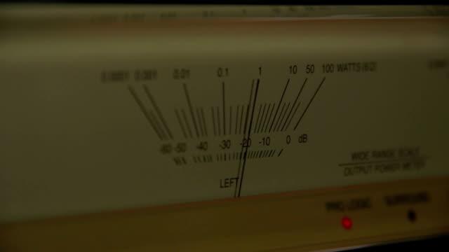 Speaker Output Meter Output Sound Power Meter measuring stock videos & royalty-free footage